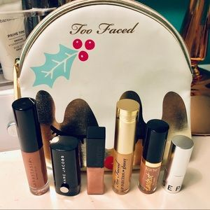 Deluxe Samples of Lip Products & Makeup Bag